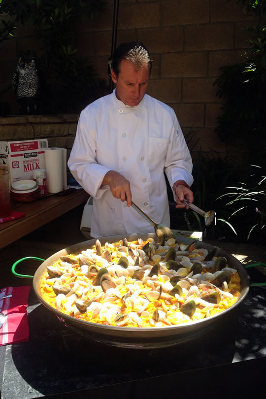 So Cal Paella Traditional seafood paella cooking