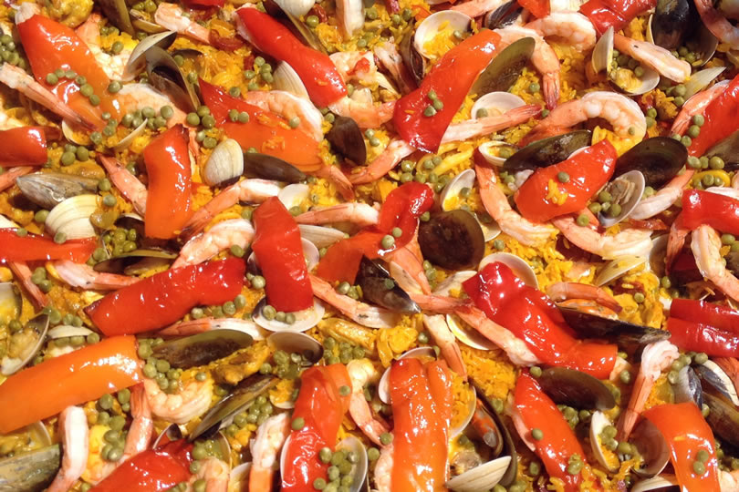 Close up for paella