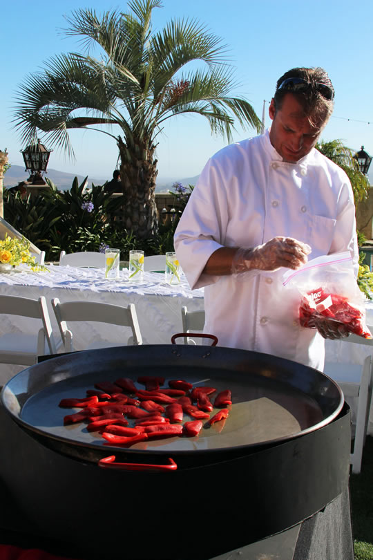 Preparing Paella for an event