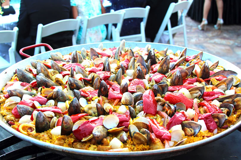 Paella dish ready for celebration