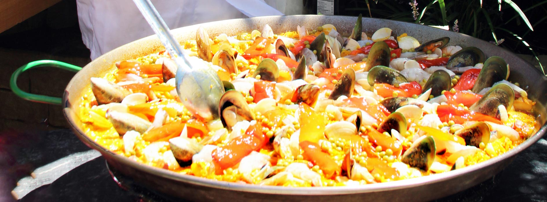 Our Paella chef making Paella